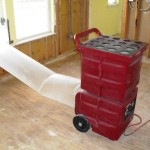 Negative air machine used to scrub air and reduce mold dispersion